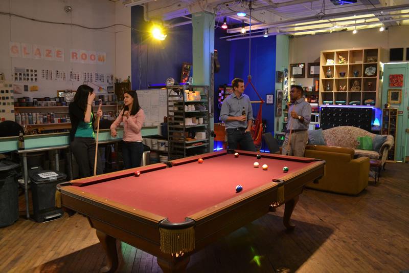 YayCLay Pool Table Pottery Art Studio Yay Clay Philadelphia - Pool table philadelphia