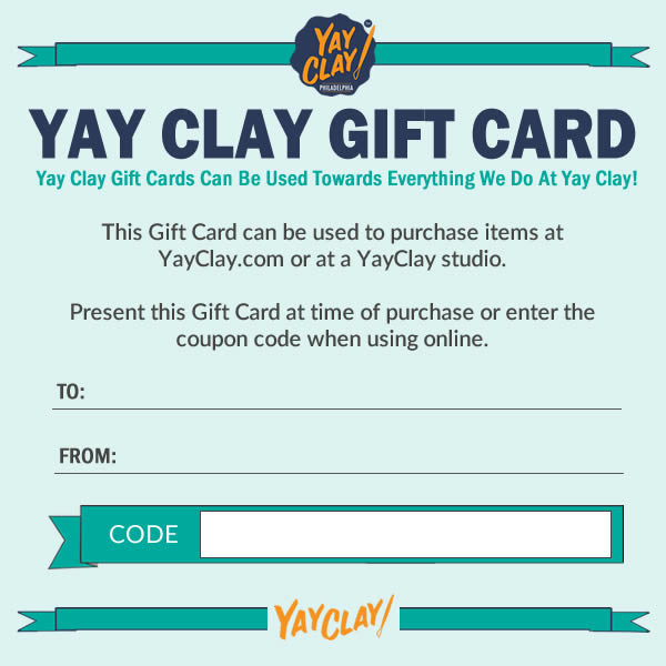 Shop Yay Clay Gift Cards Philadelphia